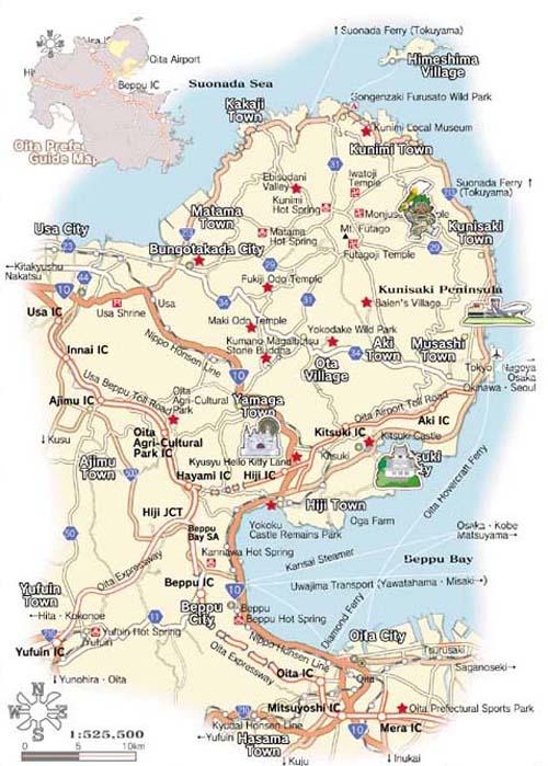 Oita Map
