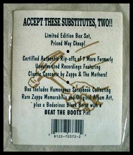 Frank Zappa: Beat the Boots II (sticker)