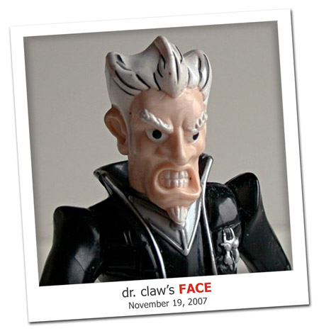 2007.11.19 Dr. Claws Face Revealed