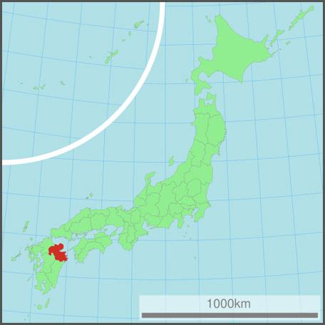 Oita, Japan Map