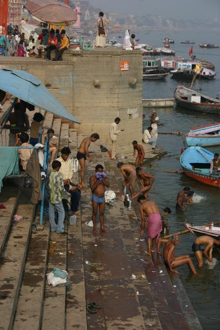 Bathing in the Ganga